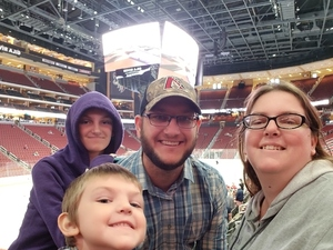Jessica attended Arizona Coyotes vs. Buffalo Sabres - NHL on Oct 13th 2018 via VetTix