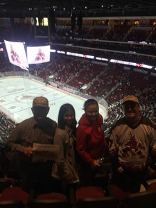 Jim attended Arizona Coyotes vs. Buffalo Sabres - NHL on Oct 13th 2018 via VetTix