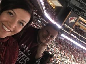 Joey attended Arizona Coyotes vs. Buffalo Sabres - NHL on Oct 13th 2018 via VetTix