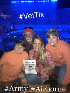 Bobby attended Old Dominion Happy Endings World Tour on Oct 4th 2018 via VetTix