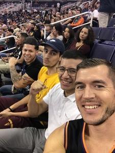 Nathan attended Phoenix Suns vs. Portland Trail Blazers - NBA on Oct 5th 2018 via VetTix