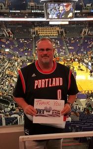 johnny attended Phoenix Suns vs. Portland Trail Blazers - NBA on Oct 5th 2018 via VetTix