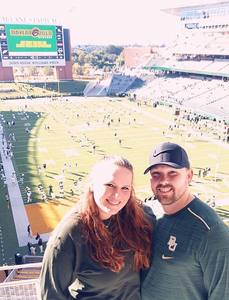Brice attended Baylor vs. Oklahoma State - NCAA Football on Nov 3rd 2018 via VetTix