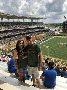 Michael attended Baylor vs. Oklahoma State - NCAA Football on Nov 3rd 2018 via VetTix