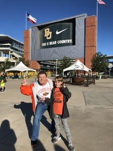 Rob attended Baylor vs. Oklahoma State - NCAA Football on Nov 3rd 2018 via VetTix