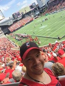 Manny attended University of Cincinnati Bearcats vs. Tulane Green Wave - NCAA Football on Oct 6th 2018 via VetTix