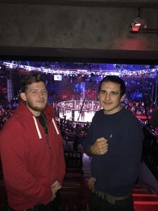 Robert attended Bellator 207 - Mitrione vs. Bader - World Grand Prix - Live Mixed Martial Arts on Oct 12th 2018 via VetTix