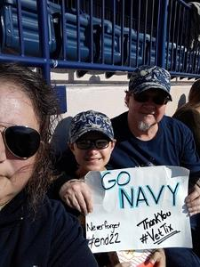Randall attended Navy Midshipmen vs. Houston Cougars - NCAA Football on Oct 20th 2018 via VetTix