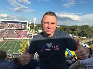 Justin attended Navy Midshipmen vs. Houston Cougars - NCAA Football on Oct 20th 2018 via VetTix
