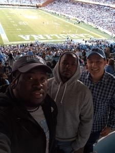 Zachary attended North Carolina Tar Heels vs. Virginia Tech Hokies - NCAA Football on Oct 13th 2018 via VetTix