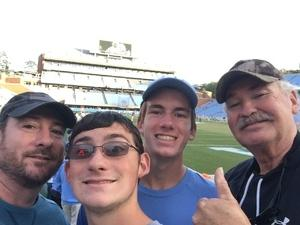 Jonathan attended North Carolina Tar Heels vs. Virginia Tech Hokies - NCAA Football on Oct 13th 2018 via VetTix