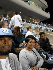 Michael attended North Carolina Tar Heels vs. Virginia Tech Hokies - NCAA Football on Oct 13th 2018 via VetTix