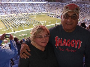 Darrell attended North Carolina Tar Heels vs. Virginia Tech Hokies - NCAA Football on Oct 13th 2018 via VetTix