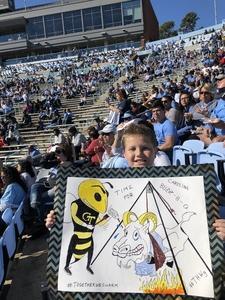 Patrick attended North Carolina Tar Heels vs. Georgia Tech Yellow Jackets - NCAA Football - Time TBA on Nov 3rd 2018 via VetTix
