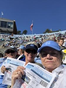 Margaret attended North Carolina Tar Heels vs. Georgia Tech Yellow Jackets - NCAA Football - Time TBA on Nov 3rd 2018 via VetTix
