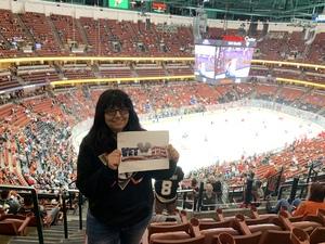 Lisa attended Anaheim Ducks vs. Detroit Red Wings - NHL - Antis Roofing Community Corner on Oct 8th 2018 via VetTix