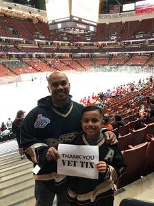 Jose attended Anaheim Ducks vs. Detroit Red Wings - NHL - Antis Roofing Community Corner on Oct 8th 2018 via VetTix