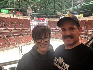 John attended Anaheim Ducks vs. Detroit Red Wings - NHL - Antis Roofing Community Corner on Oct 8th 2018 via VetTix