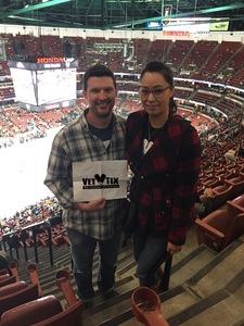 Marcus attended Anaheim Ducks vs. Detroit Red Wings - NHL - Antis Roofing Community Corner on Oct 8th 2018 via VetTix