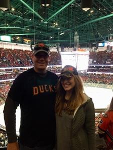 Donny attended Anaheim Ducks vs. Detroit Red Wings - NHL - Antis Roofing Community Corner on Oct 8th 2018 via VetTix