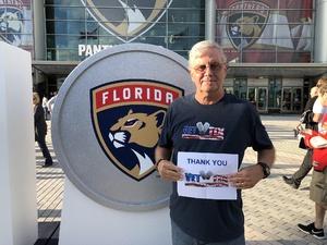 Jim attended Florida Panthers vs. Ottawa Senators - NHL on Nov 11th 2018 via VetTix