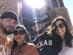 Adrian attended Texas Longhorns vs. West Virginia - NCAA Football on Nov 3rd 2018 via VetTix