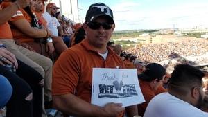 joe anthony attended Texas Longhorns vs. West Virginia - NCAA Football on Nov 3rd 2018 via VetTix