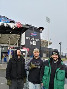 SFC Aaron Pry attended Buffalo Bills vs. Detroit Lions - NFL on Dec 16th 2018 via VetTix