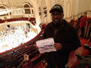 John attended Trifonov Plays Prokofiev - Presented by the Chicago Symphony Orchestra on Oct 20th 2018 via VetTix