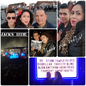christopher attended Jack's 13th Show with 311, Third Eye Blind, Stone Temple Pilots, Neon Trees, Everclear and Alien Ant Farm on Oct 14th 2018 via VetTix