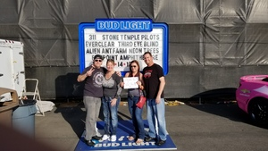 John attended Jack's 13th Show with 311, Third Eye Blind, Stone Temple Pilots, Neon Trees, Everclear and Alien Ant Farm on Oct 14th 2018 via VetTix