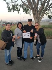 Linda attended Jack's 13th Show with 311, Third Eye Blind, Stone Temple Pilots, Neon Trees, Everclear and Alien Ant Farm on Oct 14th 2018 via VetTix