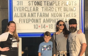 Kyle attended Jack's 13th Show with 311, Third Eye Blind, Stone Temple Pilots, Neon Trees, Everclear and Alien Ant Farm on Oct 14th 2018 via VetTix