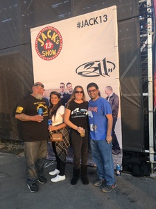 Brenda attended Jack's 13th Show with 311, Third Eye Blind, Stone Temple Pilots, Neon Trees, Everclear and Alien Ant Farm on Oct 14th 2018 via VetTix