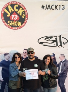James and Luv attended Jack's 13th Show with 311, Third Eye Blind, Stone Temple Pilots, Neon Trees, Everclear and Alien Ant Farm on Oct 14th 2018 via VetTix