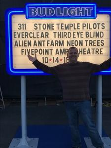 Don attended Jack's 13th Show with 311, Third Eye Blind, Stone Temple Pilots, Neon Trees, Everclear and Alien Ant Farm on Oct 14th 2018 via VetTix