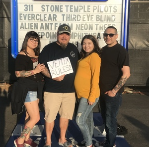 Bill attended Jack's 13th Show with 311, Third Eye Blind, Stone Temple Pilots, Neon Trees, Everclear and Alien Ant Farm on Oct 14th 2018 via VetTix