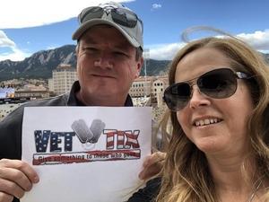 Chadwick attended Colorado Buffaloes vs. Oregon State - NCAA Football on Oct 27th 2018 via VetTix