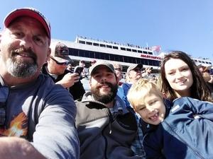 Addie attended 2018 Martinsville Speedway First Data 500 on Oct 28th 2018 via VetTix
