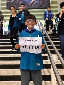 Vince attended San Jose Sharks vs. Columbus Blue Jackets - NHL on Nov 1st 2018 via VetTix