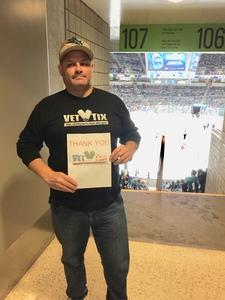 STEVE attended San Jose Sharks vs. Columbus Blue Jackets - NHL on Nov 1st 2018 via VetTix