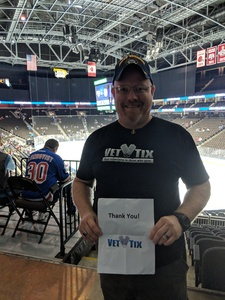 Timothy Palmer attended Jacksonville Icemen vs. South Carolina Stingrays - ECHL on Oct 13th 2018 via VetTix