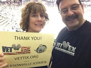 George attended Jacksonville Icemen vs. South Carolina Stingrays - ECHL on Oct 13th 2018 via VetTix