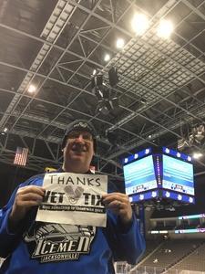 Kent attended Jacksonville Icemen vs. Florida Everblades - ECHL on Nov 3rd 2018 via VetTix