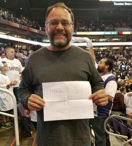 Ramon attended Phoenix Suns vs. Dallas Mavericks - NBA on Oct 17th 2018 via VetTix
