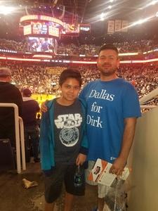 abel attended Phoenix Suns vs. Dallas Mavericks - NBA on Oct 17th 2018 via VetTix