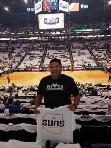 Ernesto Haros attended Phoenix Suns vs. Dallas Mavericks - NBA on Oct 17th 2018 via VetTix