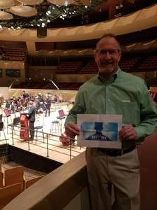 Jeff attended Bruch Performed by Pinchas Zukerman - Presented by the Colorado Symphony on Nov 16th 2018 via VetTix