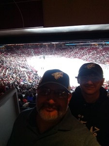 Jose attended Arizona Coyotes vs. Vancouver Canucks - NHL on Oct 25th 2018 via VetTix