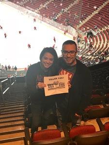 jonathan attended Arizona Coyotes vs. Vancouver Canucks - NHL on Oct 25th 2018 via VetTix